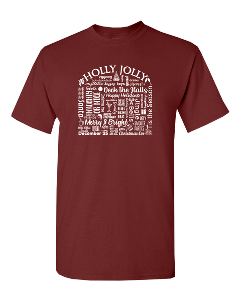 "WLTY ""Holly Jolly"" Adult Short Sleeve T-Shirt"