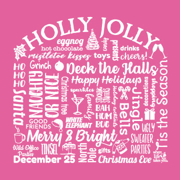 "WLTY ""Holly Jolly"" Ladies Short Sleeve T-Shirt"