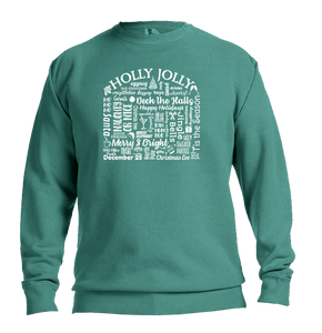 "WLTY ""Holly Jolly"" Adult Crew Neck Sweatshirt"