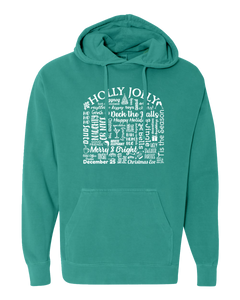 "WLTY ""Holly Jolly"" Adult Hooded Sweatshirt"