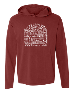 "WLTY ""Celebrate Christmas"" Adult Hooded Long Sleeve"