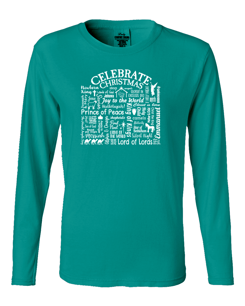 "WLTY ""Celebrate Christmas"" Ladies Long Sleeve"