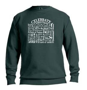 "WLTY ""Celebrate Christmas"" Adult Crew Neck Sweatshirt"
