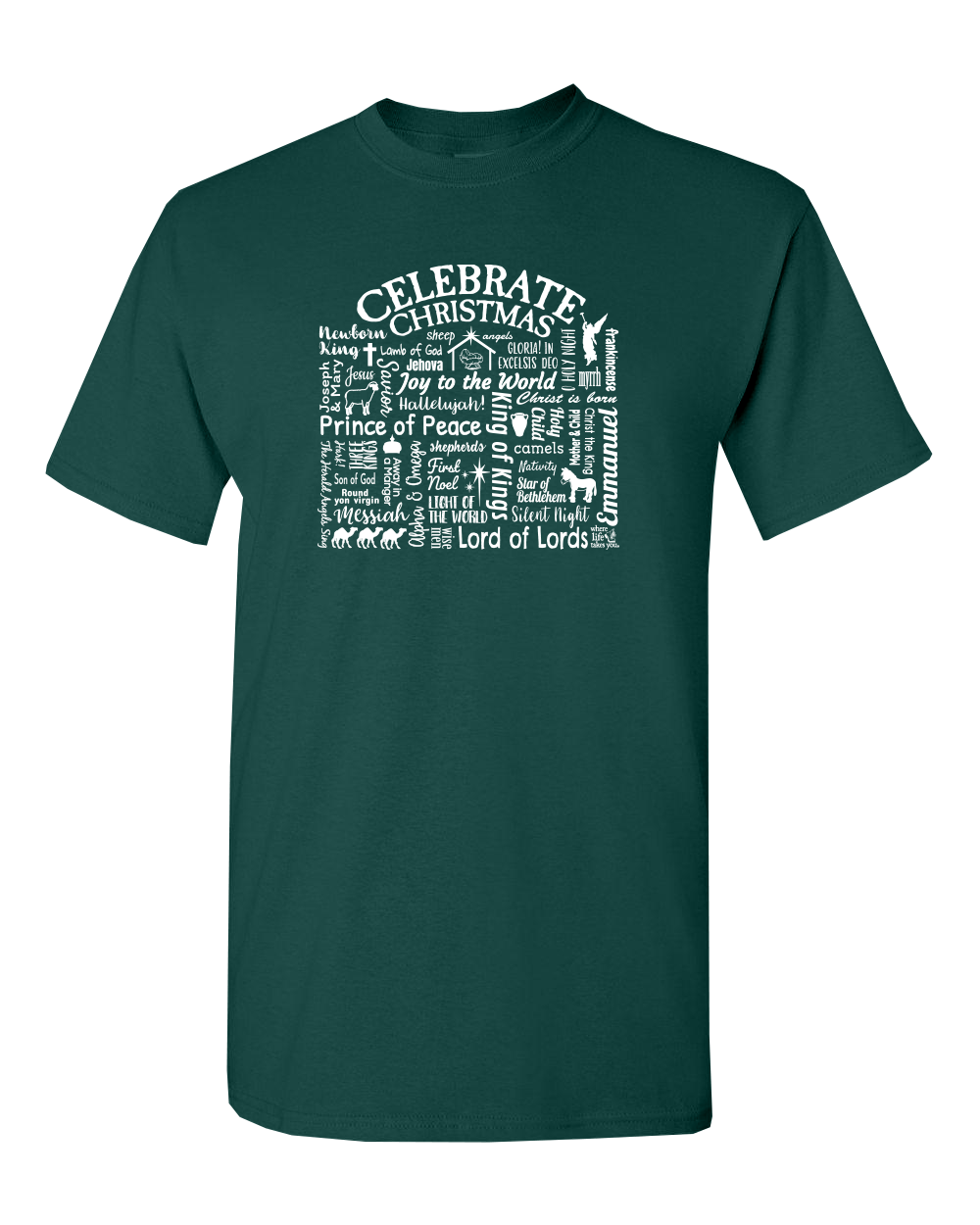 "WLTY ""Celebrate Christmas"" Adult Short Sleeve T-Shirt"