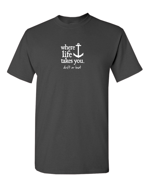 "WLTY Anchor ""Drift or Knot"" Adult Short Sleeve T-Shirt"
