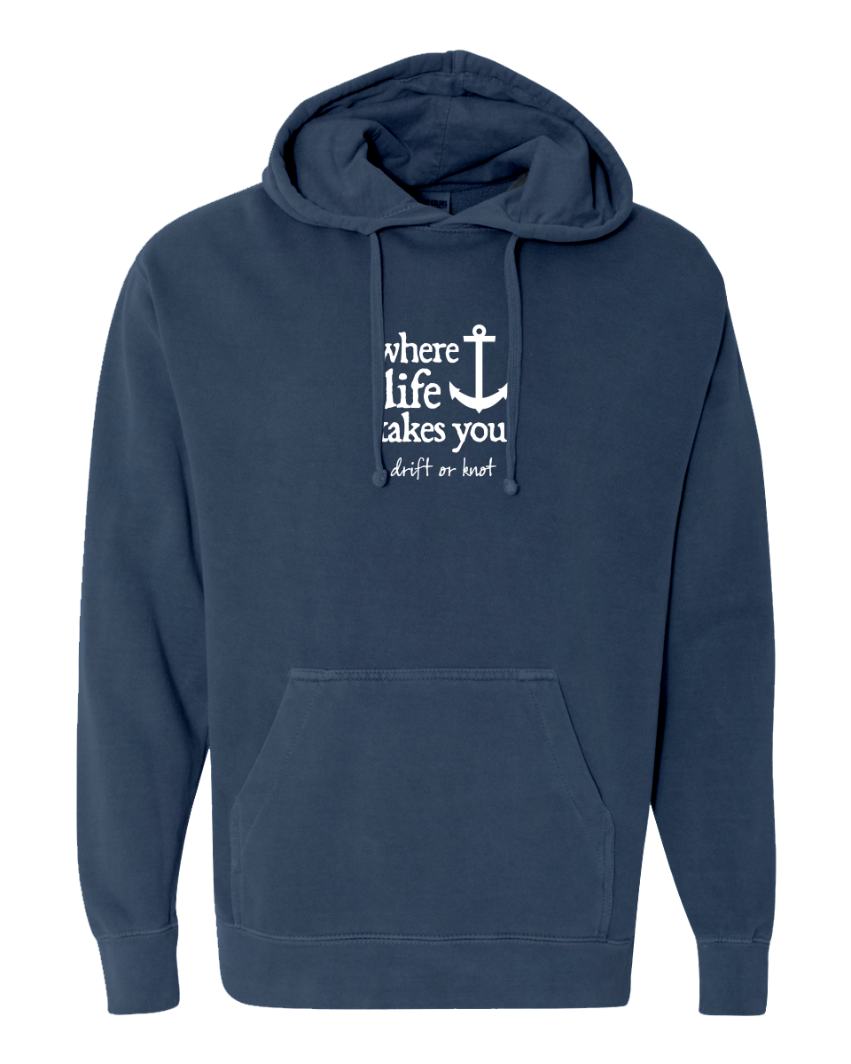 "WLTY Anchor ""Drift or Knot"" Adult Hooded Sweatshirt"