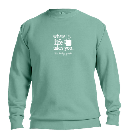 "WLTY Coffee ""The Daily Grind"" Adult Crewneck Sweatshirt"