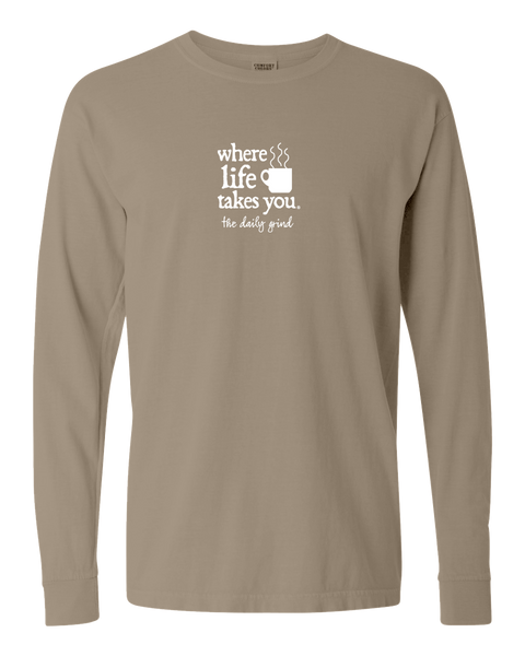 "WLTY Coffee ""The Daily Grind"" Adult Long Sleeve T-Shirt"