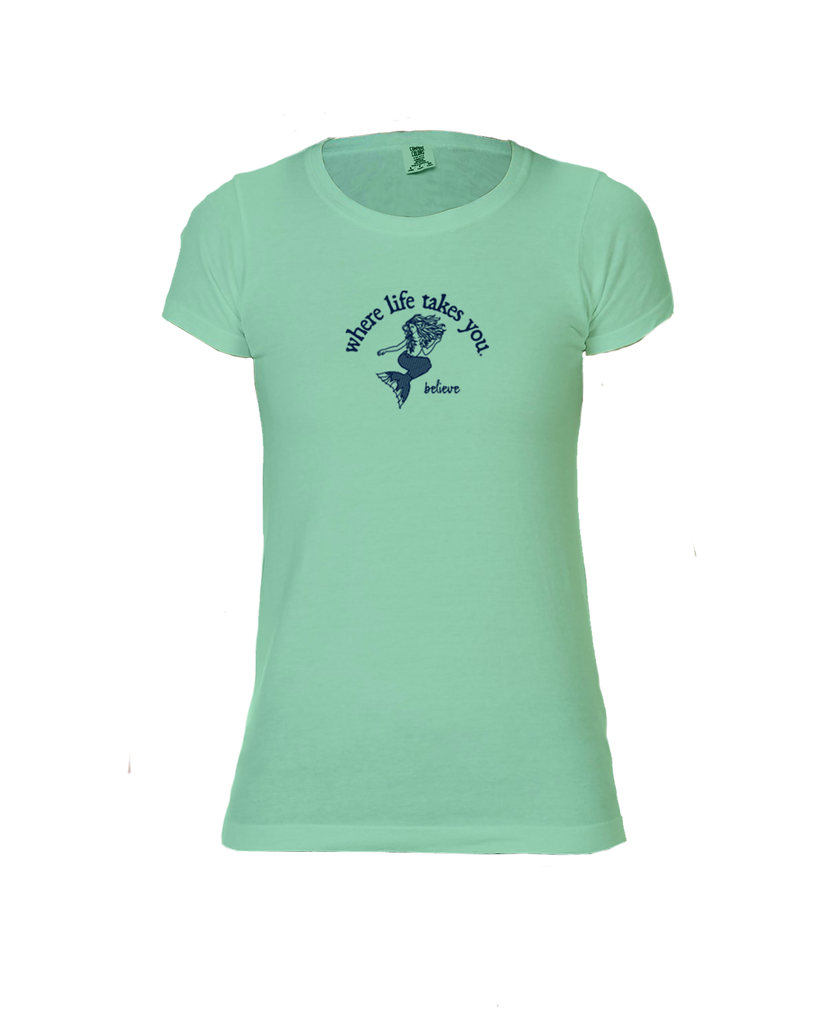 "WLTY Mermaid ""Believe"" Ladies Short Sleeve T-Shirt"