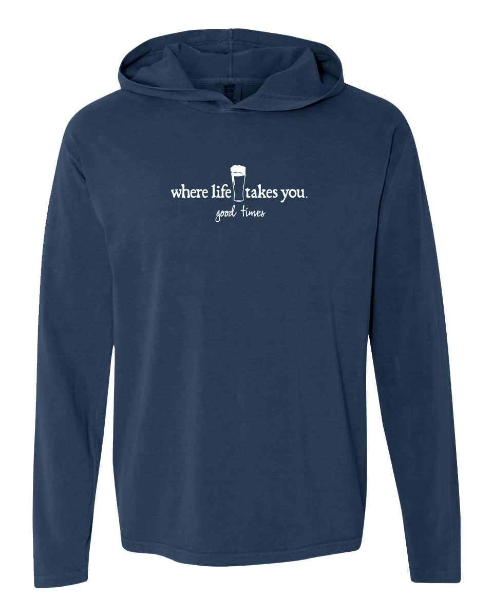 "WLTY Beer ""Good Times"" Adult Hooded Long Sleeve"