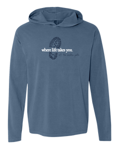 "WLTY Boot ""Off the Beaten Path"" Adult Hooded Long Sleeve"