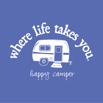 "WLTY RV ""Happy Camper"" Ladies Short Sleeve T-Shirt"