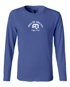 "WLTY RV ""Happy Camper"" Ladies Long Sleeve"