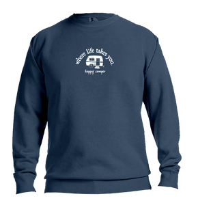"WLTY RV ""Happy Camper"" Adult Crewneck Sweatshirt"