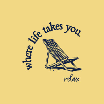 "WLTY Beach Chair ""Relax"" Adult Hooded Long Sleeve"