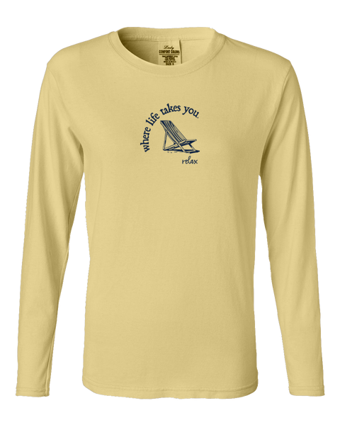 "WLTY Beach Chair ""Relax"" Ladies Long Sleeve"