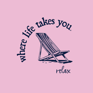 "WLTY Beach Chair ""Relax"" Ladies Short Sleeve T-Shirt"
