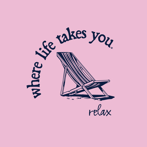 "WLTY Beach Chair ""Relax"" Adult Short Sleeve T-Shirt"