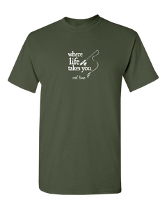 "WLTY Fishing ""Reel Time"" Adult Short Sleeve T-Shirt"