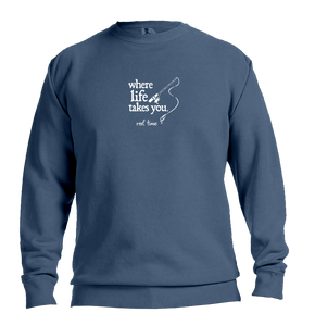 "WLTY Fishing ""Reel Time"" Adult Crewneck Sweatshirt"