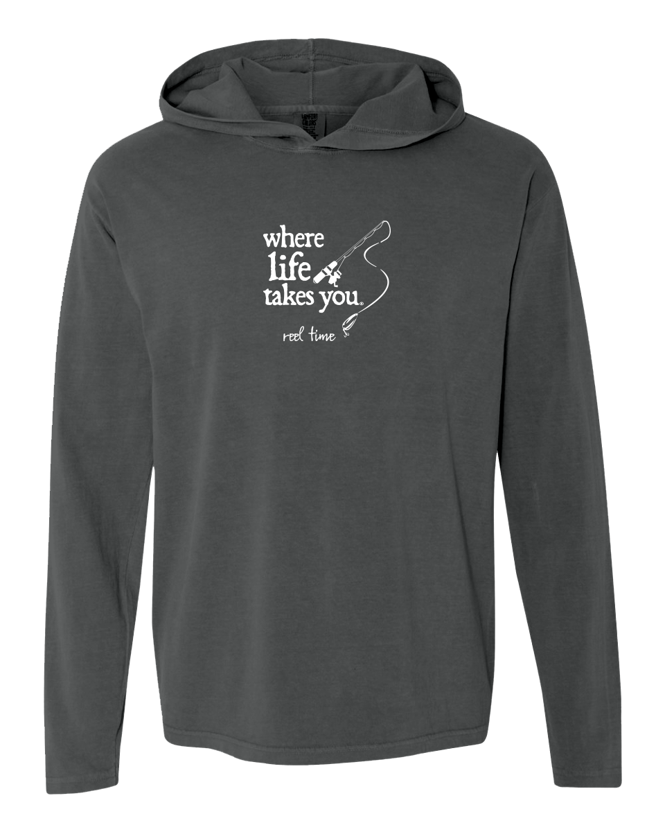 "WLTY Fishing ""Reel Time"" Adult Hooded Long Sleeve"
