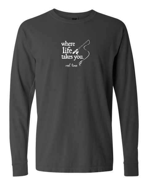 "WLTY Fishing ""Reel Time"" Adult Long Sleeve T-Shirt"