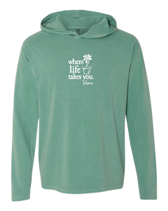 "WLTY Flower Pot ""Bloom"" Adult Hooded Long Sleeve"