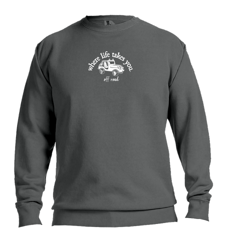 "WLTY Jeep ""Off Road"" Adult Crewneck Sweatshirt"