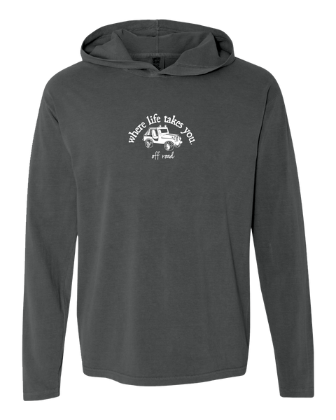 "WLTY Jeep ""Off Road"" Adult Hooded Long Sleeve"