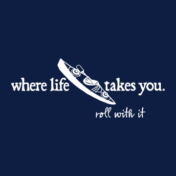 "WLTY Kayak ""Roll With It"" Adult Short Sleeve T-Shirt"
