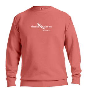 "WLTY Kayak ""Roll With It"" Adult Crewneck Sweatshirt"