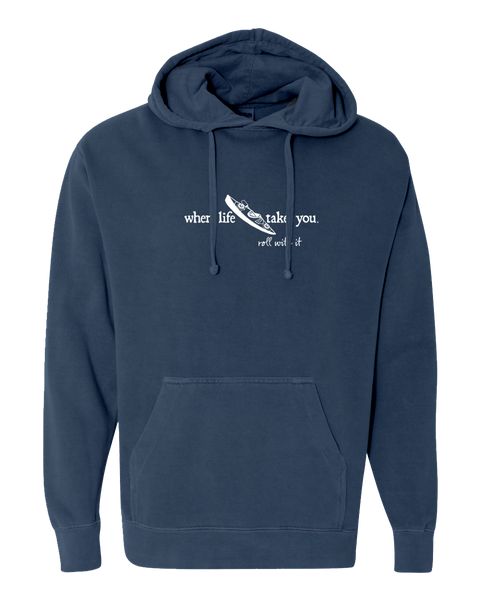 "WLTY Kayak ""Roll With It"" Adult Hooded Sweatshirt"