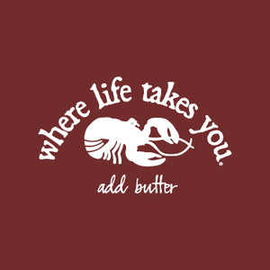 "WTLY Lobster ""Add Butter"" Adult Crewneck Sweatshirt"