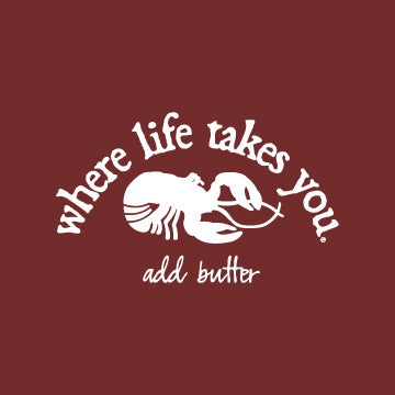 "WTLY Lobster ""Add Butter"" Adult Hooded Long Sleeve"