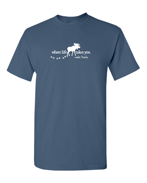 "WLTY Moose ""Make Tracks"" Adult Short Sleeve T-Shirt"