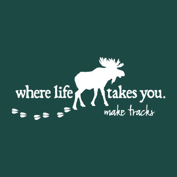 "WLTY Moose ""Make Tracks"" Adult Hooded Sweatshirt"