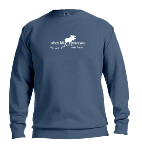 "WLTY Moose ""Make Tracks"" Adult Crewneck Sweatshirt"