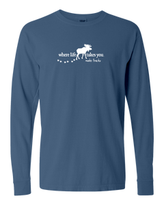 "WLTY Moose ""Make Tracks"" Adult Long Sleeve T-Shirt"