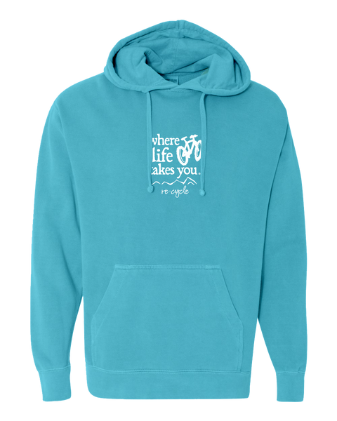 "WLTY Mountain Bike ""Recycle"" Adult Hooded Sweatshirt"