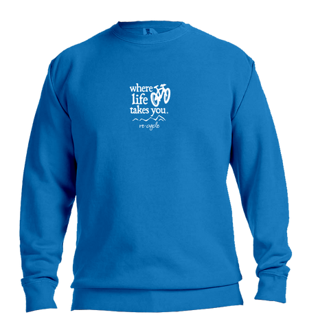 "WLTY Mountain Bike ""Recycle"" Adult Crewneck Sweatshirt"