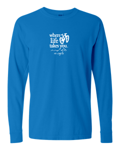 "WLTY Mountain Bike ""Recycle"" Adult Long Sleeve T-Shirt"