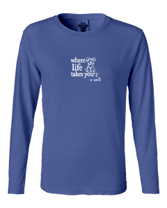 "WLTY Dog ""A Walk"" Ladies Long Sleeve"