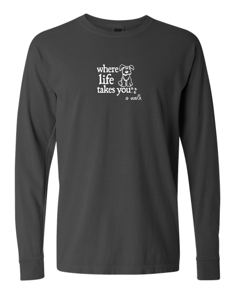 "WLTY Dog ""A Walk"" Adult Long Sleeve T-Shirt"
