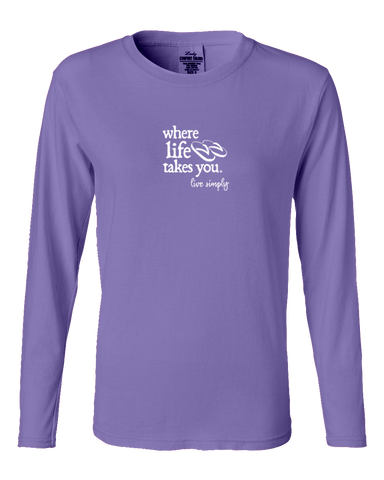 "WLTY Flip Flops ""Live Simply"" Ladies Long Sleeve"