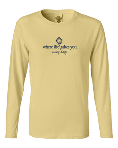 "WLTY Sunflower ""Sunny Days"" Ladies Long Sleeve"