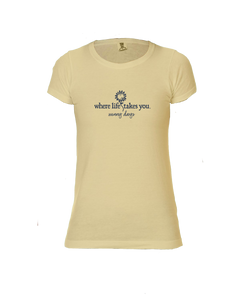 "WLTY Sunflower ""Sunny Days"" Ladies Short Sleeve T-Shirt"