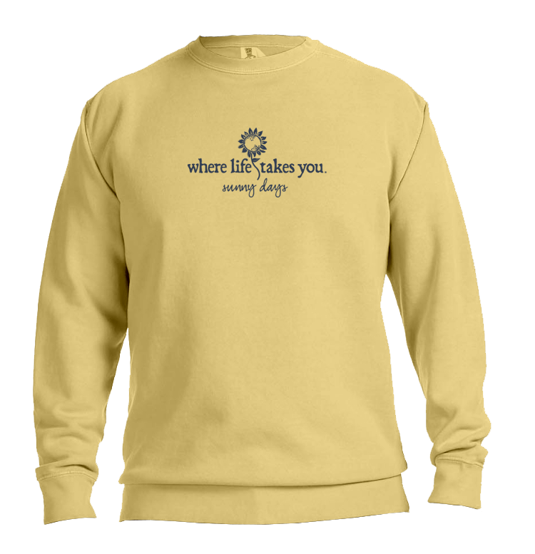 "WLTY Sunflower ""Sunny Days"" Adult Crewneck Sweatshirt"