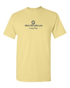 "WLTY Sunflower ""Sunny Days"" Adult Short Sleeve T-Shirt"