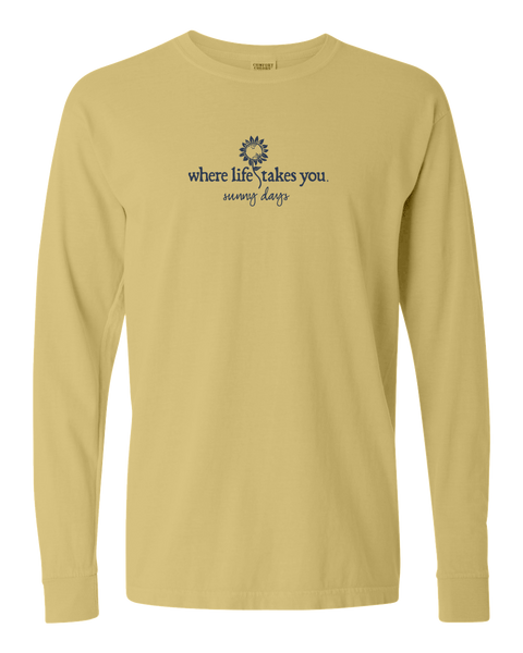 "WLTY Sunflower ""Sunny Days"" Adult Long Sleeve T-Shirt"