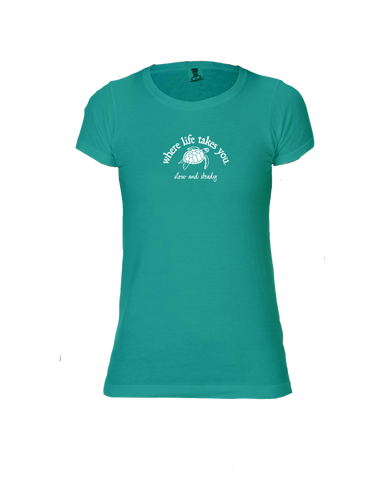 "WLTY Turtle ""Slow and Steady"" Ladies Short Sleeve T-Shirt"